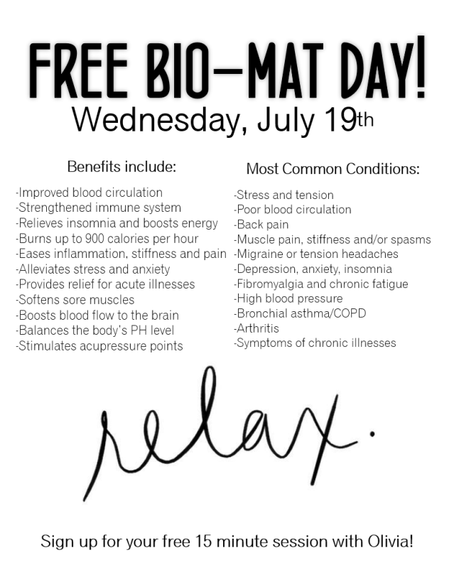 free biomat day
